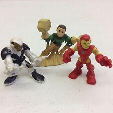 Super Hero Squad White / Gold Iron Man, Sandman, & Iron Man Figures