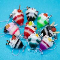 Kawaii Cute Parfait Sweets Strap PVC Charm for Phone or Bag Free Dust Plug USA