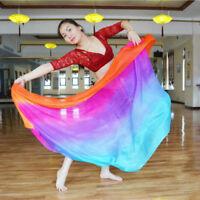 Belly Dance Costume Gradient Color Dancing Silk-likeShawl Scarf Veil Dancewear