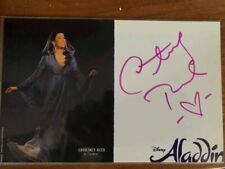 Courtney Reed Jasmine  signed Disney's Aladdin Broadway musical card