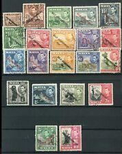 Malta KGVI 1948-53 set of 21 SG234/48 used