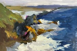 STUDIO SALE Impressionist Colourist Painter Jane Roose Oil Painting Cornwall Art