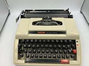 Brother Deluxe 750TR Portable Typewriter W/ Case and Manuals