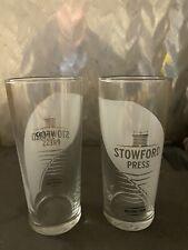 Symonds Cider Stemmed Pint Glasses set of 4 BBQ Party Xmas Birthday Wedding