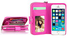 Hot Pink All in One Zip Purse Wallet Leather Case Cover For iPhone 6 Plus