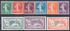FRANCE ANNEE COMPLETE 1907 YVERT 137/145 , 9 TIMBRES NEUFS xx LUXE   M903A