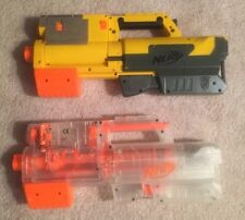 Lot of 2 Two Nerf N-STRIKE 1 Yellow + 1 Clear Deploy CS-6 Guns