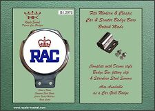 Royale Car Scooter Bar Badge + fittings - ROYAL AUTOMOBILE CLUB (RAC) - B1.2970