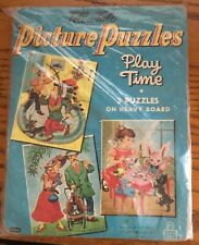 VINTAGE 1956 WHITMAN 'TELL-A-TALE PLAY TIME PICTURE PUZZLES ILLUSTRATOR WINSHIP