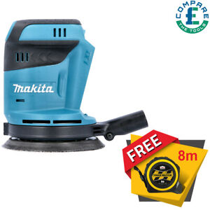 Makita DBO180Z 18V Li-ion Cordless Random Orbit Sander 125 mm + Free Tape 8M