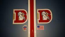 Denver Broncos throwback football helmet decals set