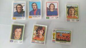 7 STICKERS WM 1974 PANINI