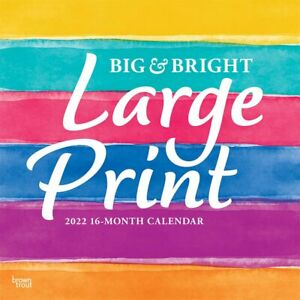 BIG & BRIGHT LARGE PRINT - 2022 WALL CALENDAR - BRAND NEW - 438449