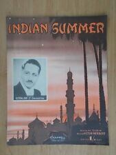 VINTAGE SHEET MUSIC - INDIAN SUMMER - GERALDO AND HIS ORCHESTRA - 2492