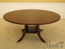 45681: HENKEL HARRIS #2266  Round Mahogany Dining Room Table  ~ NEW