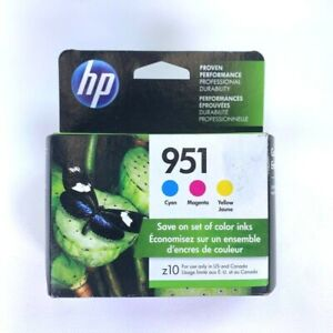 Genuine HP 951 Color Ink Cartridges 3-PACK Cyan Magenta Yellow Combo Exp. 12/21