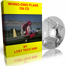 WHING DING BIPLANE ULTRALIGHT AIRCRAFT PLANS ON CD PLUS EXTRAS