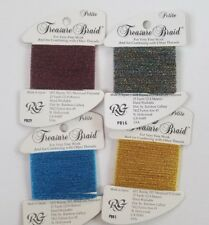 Rainbow Gallery Petite Treasure Braid Cross Stitch Needlepoint You Choose
