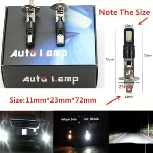 H1 6000K Super Bright White 6000LM CSP LED Headlight Bulb Kit High Low Beam DRL