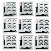 Beauty Magnetic Liquid Eyeliner False Eyelash Kits W/ Ma Waterproof Tweezer F1F3