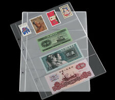 10 x Album Insert Pages Currency Money Bill Notes Holders 4 Pockets 180 x 60mm