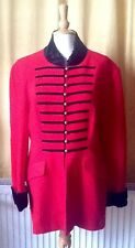WALLIS Vintage Red Black Military Coat Sergeant Pepper's Retro Hunting Riding 16