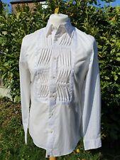 Pretty Green Liam Gallagher The Vintage Style Tux Shirt White - Medium