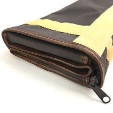 """Neiman-Marcus Collapsible Suitcase Vintage Vinyl & Canvas 19x12x7"""""""