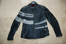 New Black Leather HEIN GERICKE Zip Front Motorcycle Lined Jacket Woman's 8