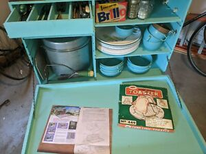 Amazing Rare VTG 1960s Camping Camp Travel Kitchen Outdoor like Filson Coleman