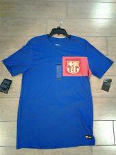 Nike FC Barcelona Crest T-Shirt 832658-480 Royal Blue Men's Size XL