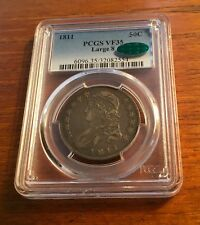 1811 CAPPED BUST HALF DOLLAR  PCGS CAC VF 35