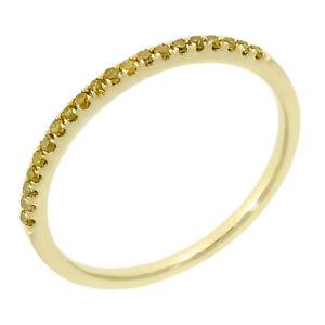 Yellow Diamond Ring 0.15Ct. Round Brilliant Cut Diamond Anniversary Band