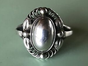 Georg Jensen Sterling Silver Ring # 1A - MOONLIGHT BLOSSOM - Heritage Collection
