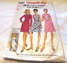 Vintage Original 60's Ladies Mixed Simplicity Sewing Pattern Size 14 Cut