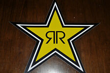 """You get """"FOUR"""" NEW 7"""" ROCKSTAR ENERGY STAR STICKER/DECAL for only $5/1.25 ea."""
