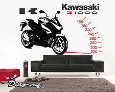 Pegatina de vinilo decorativo de pared Vinyl wall sticker Moto Kawasaki Z1000