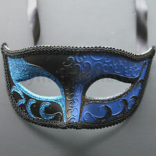 Blue/Black  Venetian male Mask Masquerade F02BB  for Party & Display