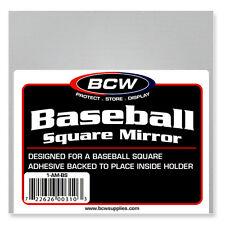 (1) BCW Adhesive Back Mirror for BallQube Baseball Holder Display Cases