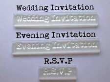 Wedding & Evening Invitation Clear Stamps with RSVP for Handmade Invitations