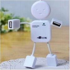 Venta caliente lindo Hub De 4 puertos de alta velocidad USB 2.0 Humanoid Splitter Cable Adaptador Para