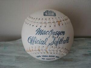 "Vintage 1960's MacGregor B33 12"" Official Softball 100% Long Fibre Kapok w/Box"