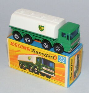 MATCHBOX SUPERFAST #32a LEYLAND BP PETROL TANKER *LATE ISSUE BOX* EXC BOXED