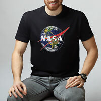 Nasa Logo Printed Tee Shirt Space Short Sleeve Tumblr T-Shirt Unisex Nasa TShirt
