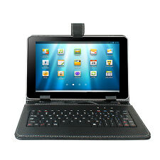 Kocaso Stand Leather Case Cover for 9'' Android Tablet W/ USB Keyboard Universal