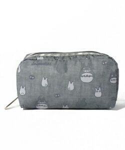 LeSportsac RECTANGULAR COSMETIC Totoro Gray Cosmetic Pouch Japan Limited Edition