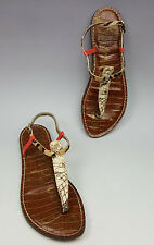 Sam and Libby shoes 7.5 M multi leather thong sandals ankle straps Gigi