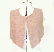 Emporio Armani Vintage Italian Linen Blend Tan Vest - Small to Medium fit