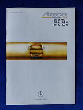 Mercedes-Benz Atego 817 K - Technische Daten - Prospekt Brochure 07.1998