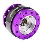 Kyostar Steering Wheel Quick Release Hub Adapter Snap Off Kit Purple Universal